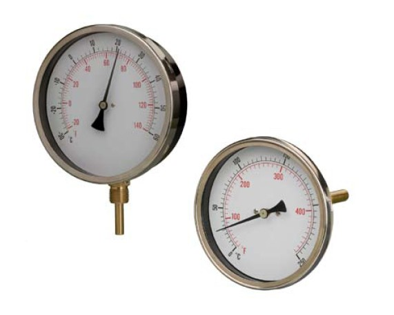 HVAC Thermometer Gauge 160mm Diameter